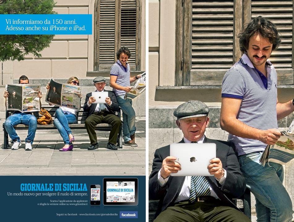 Campagna pubblicitaria Giornale di Sicilia